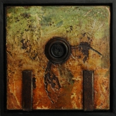 Painting No. 1 from the series: Small Encaustic Assemblages