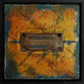 Painting No. 3 from the series: Small Encaustic Assemblages