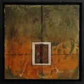 Painting No. 4 from the series: Small Encaustic Assemblages