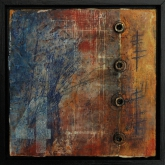 Painting No. 6 from the series: Small Encaustic Assemblages