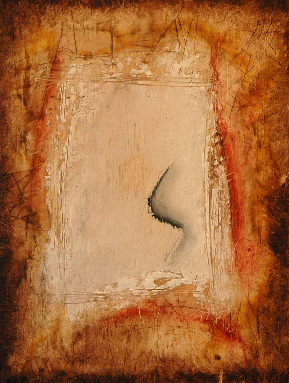 Domenick Naccarato encaustic mixed media abstract painting