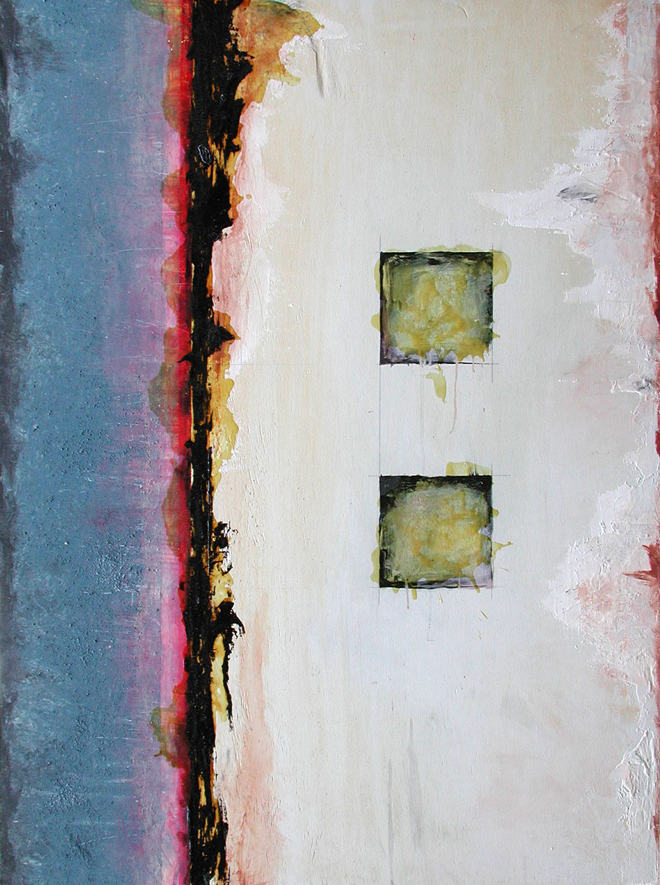Mixed media abstract painting by Domenick Naccarato