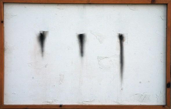 Domenick Naccarato | Three Faint Squares on White | 1998