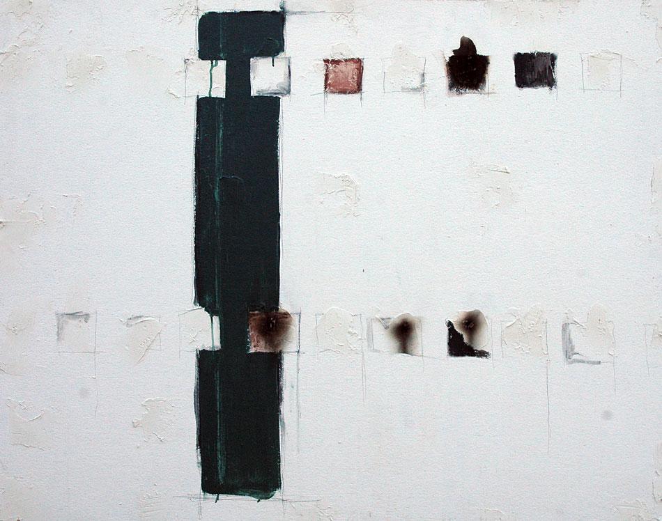 Domenick Naccarato | Mixed Media painting on board | 1998