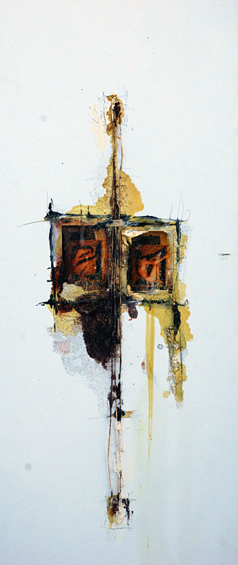 Domenick Naccarato | Mixed media painting on canvas | 1998
