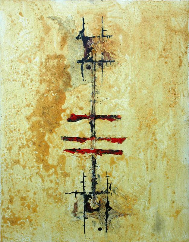 Domenick Naccarato | mixed media on canvas | 1999