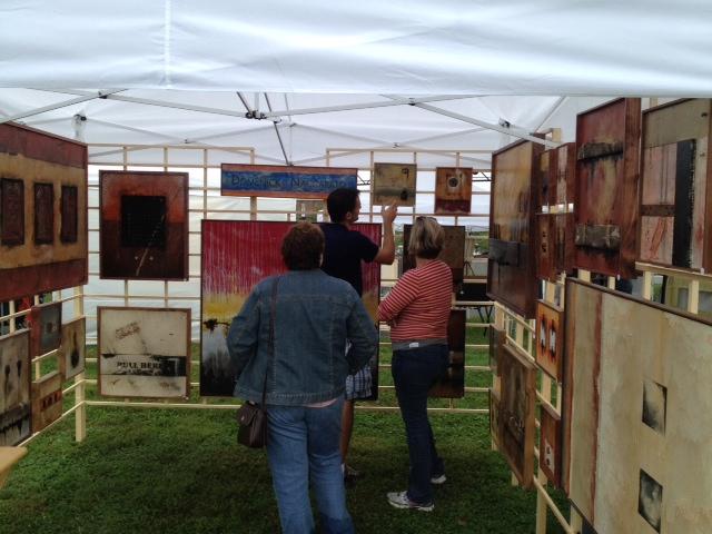 Dom Naccarato Art Festival Booth