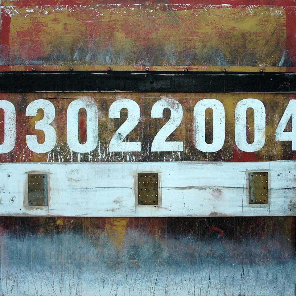 Wall Segments No.12 - 03022004 mixed media and assemblage art by Domenick Naccarato