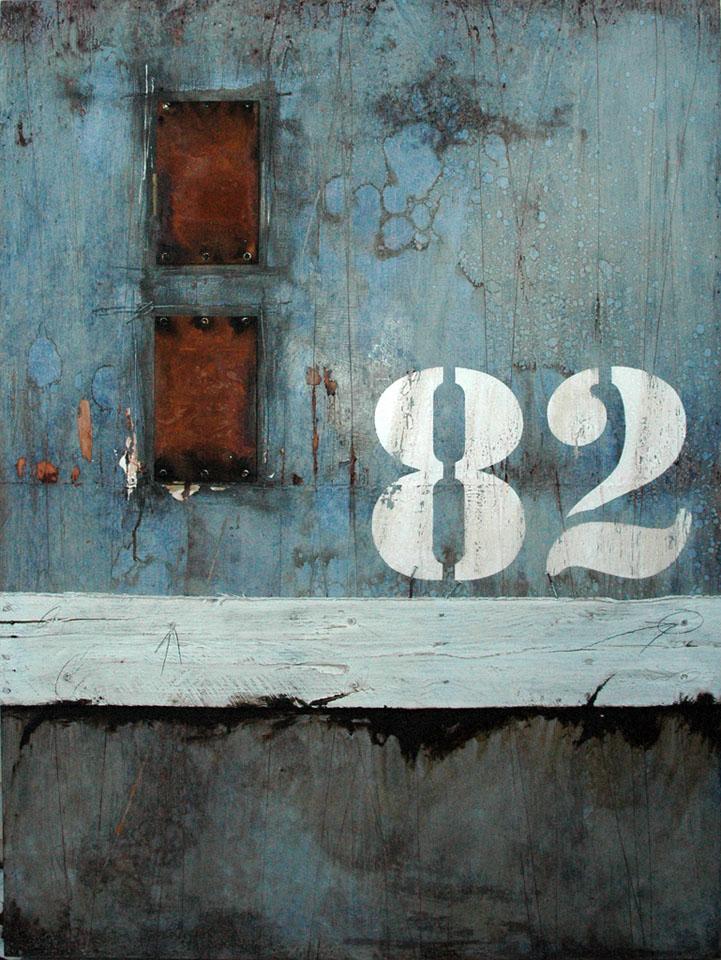 Wall Segments No.13 - 82 mixed media and assemblage art by Domenick Naccarato