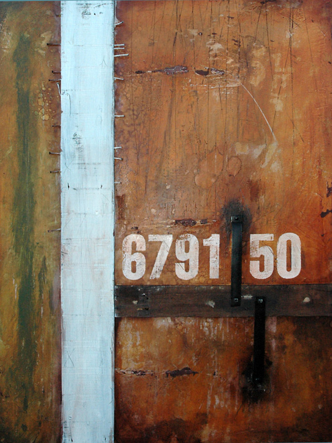 Wall Segments No.14 - 679150 mixed media and assemblage art by Domenick Naccarato