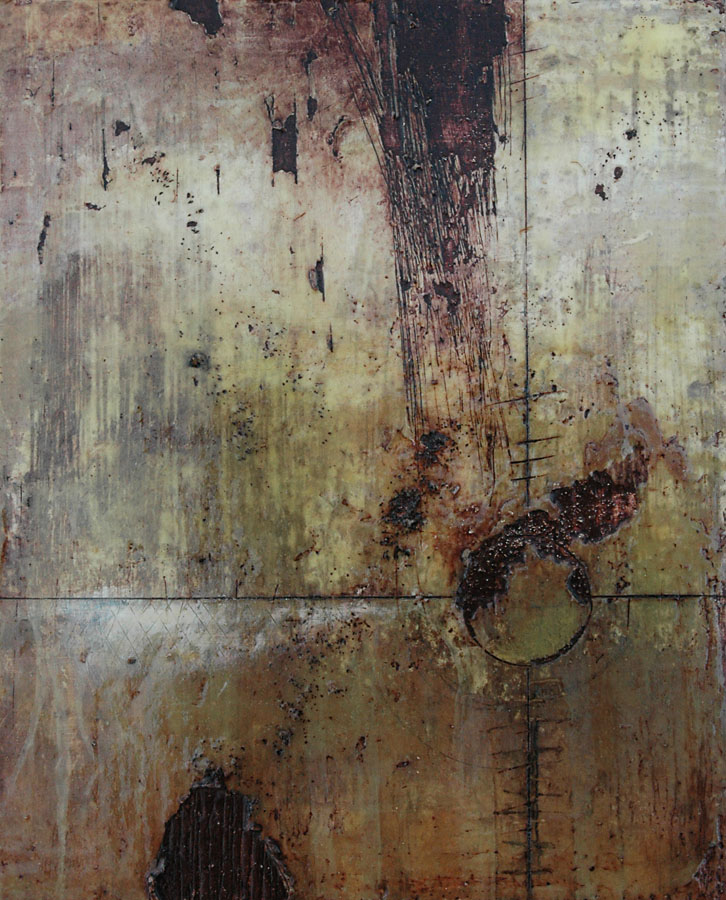 Encaustic painting by Domenick Naccarato titled ' Cross Hairs'