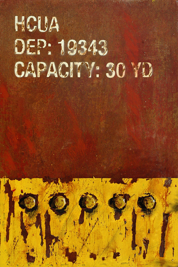 Markings: Capacity 30 YD - Abstract Industrial art by Domenick Naccarato