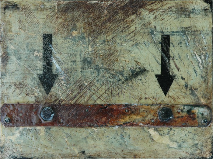 Remove From These Two Points - Abstract Industrial Art by Domenick Naccarato