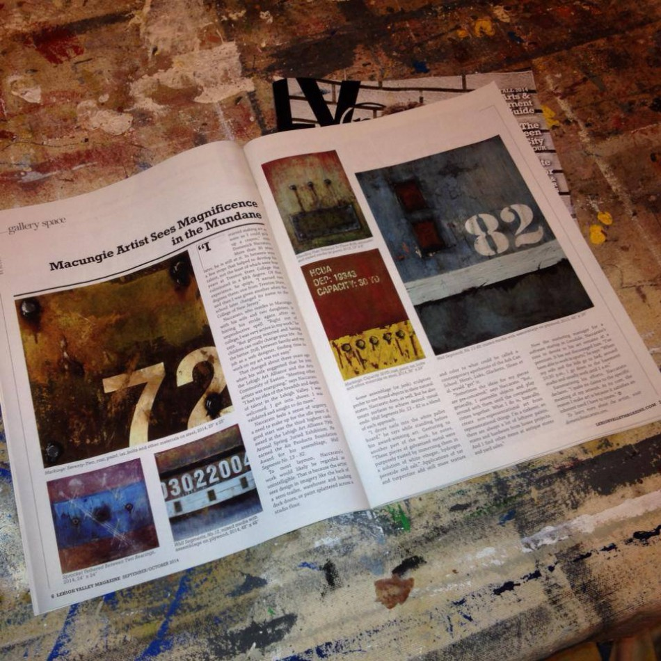 Gallery Column two page spread in Sept./Oct. issue of Lehigh Valley Magazine