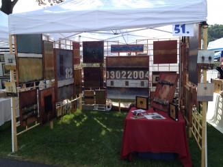 Domenick Naccarato's Art Booth for 2014 Riverside Arts Festival