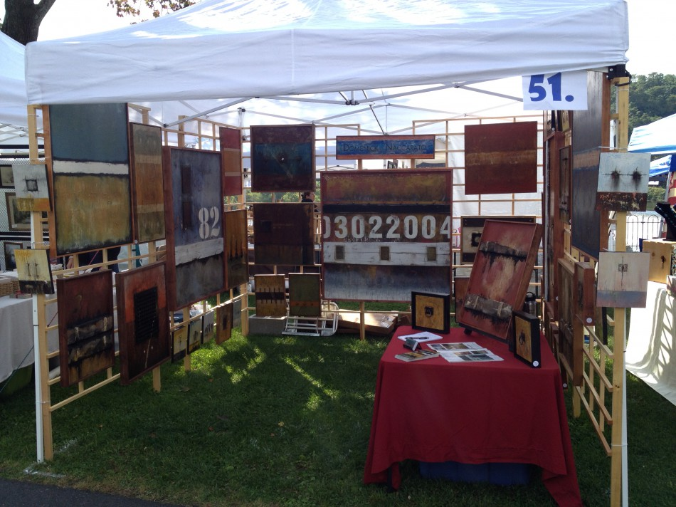 Domenick Naccarato's Art Booth for 2014 Riverside Arts Festival