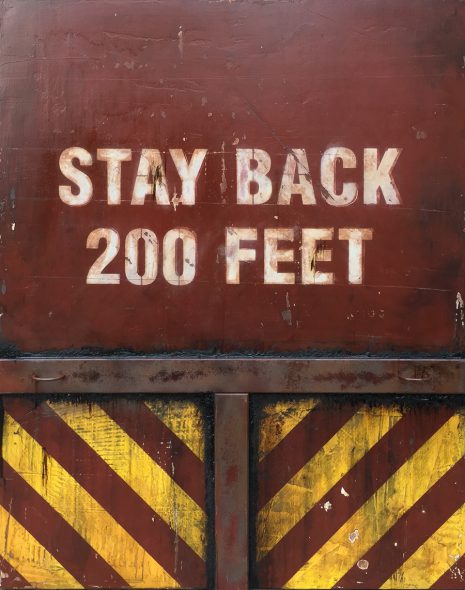 Markings: Stay Back 200 Feet