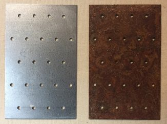 galvanized steel before and after rusting