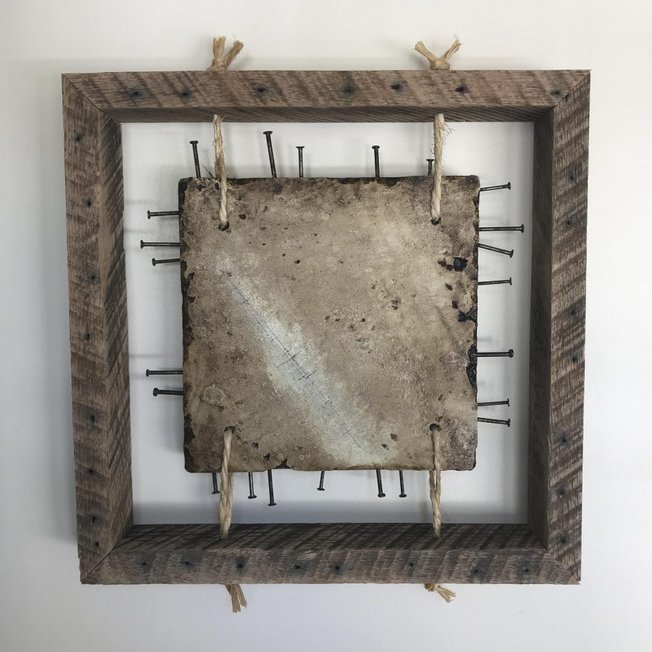 "'Concrete Remnants, No.4' | apx. 16.5"" x 16.5"" x 2.5"" 