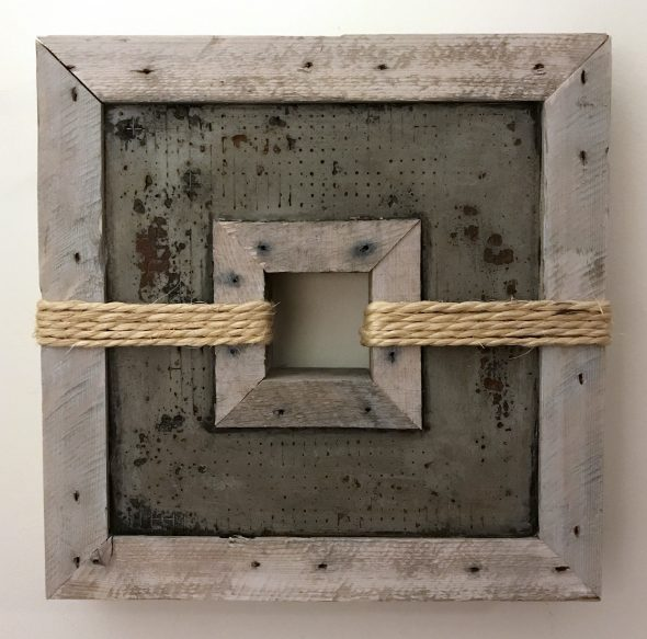 "'Concrete Remnants, No.5' | apx. 13"" x 13"" x 2.5"" 