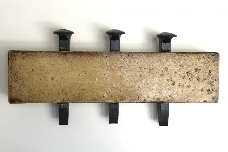 "'Concrete Remnants, No.6 (With Three Railroad Spikes)' | apx. 6.5"" x 14"" x 1.75"" 