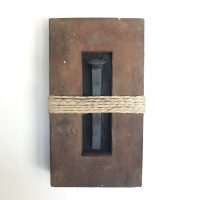 """'Concrete Remnants, No.7 (With a Railroad Spike)' 