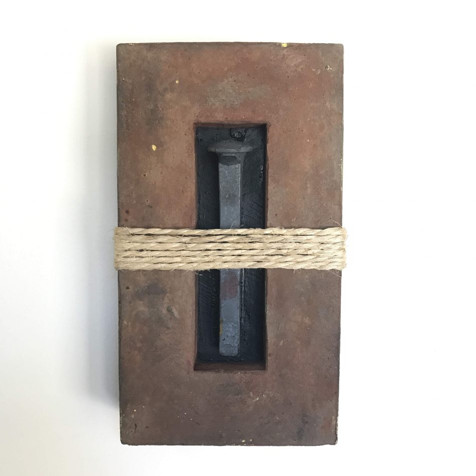 "'Concrete Remnants, No.7 (With a Railroad Spike)' | apx. 12"" x 7"" x 2.5"" 